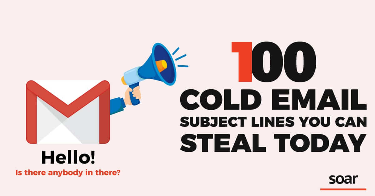 100 Cold Email Subject Lines You Can Steal Today - Banner