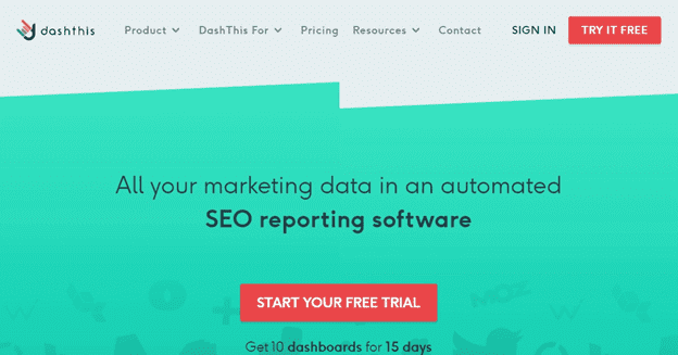 Dashthis SEO Dashboard - Screenshot