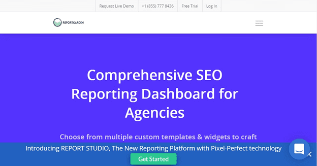 ReportGarden SEO Dashboard - Screenshot