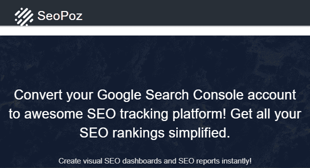 SEO Poz SEO Dashboard - Screenshot